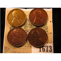 1673 _ (2) 1919 P, 19 D, & 19 S Lincoln cents, all nice Chocolate brown with hints of luster.