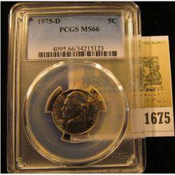 1675 _ 1975 D Jefferson Nickel PCGS slabbed MS66.
