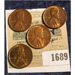 1689 _ 1936 S, 38P, S, & 39 D Uncirculated Lincoln Cents.