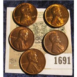 1691 _ 1936P, S, 38S, 70P, & 72P Lincoln Cents, all Brilliant Uncirculated.