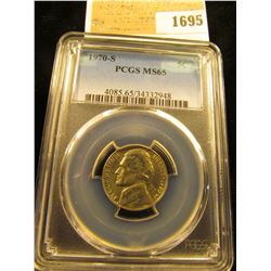 1695 _ 1970 S Jefferson Nickel PCGS slabbed MS65