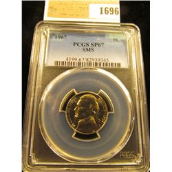 1696 _ 1967 P Jefferson Nickel PCGS slabbed SP67 SMS.