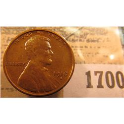 1700 _ 1910 S Lincoln Cent, Very Fine.