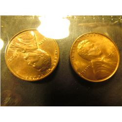 1708 _ Pair of 1935 P Lincoln Cents, Brilliant Red-brown Uncirculated.