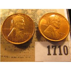 1710 _ Pair of 1934 D Lincoln Cents, both red-brown to Brilliant Red Uncirculated.