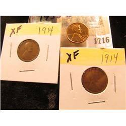 1716 _ (2) 1914 P EF & 38 S Uncirculated Lincoln Cent.