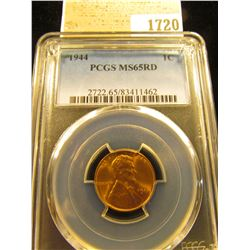 1720 _ 1944 P Lincoln Cent, PCGS slabbed MS65RD