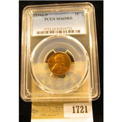 1721 _ 1944 D Lincoln Cent, PCGS slabbed MS65RD