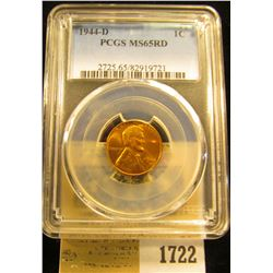1722 _ 1944 D Lincoln Cent, PCGS slabbed MS65RD