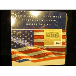 1723 _ 2007 United States Mint Annual Uncirculated Dollar Coin Set in original package as issued. Co