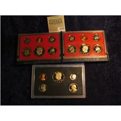1724 _ 1980 S, 82 S, & 83 S U.S. Proof Sets. Original as issued.