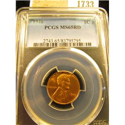 1733 _ 1946 P Lincoln Cent, PCGS slabbed MS65RD