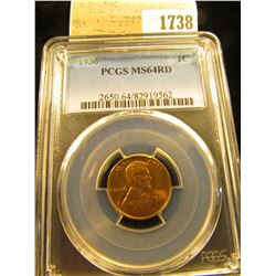 1738 _ 1936 P Lincoln Cent, PCGS slabbed MS64RD