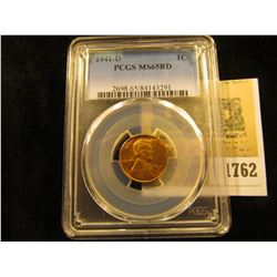 1762 _ 1941 D Lincoln Cent, PCGS slabbed MS65RD