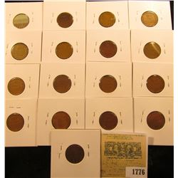 1776 _ (2) 1936P, D, S, (3) 37P, S, 38P, D, S, (3) 39P, & (3) 39S Wheat Cents, most are VG to F. All