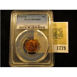 1779 _ 1947 D Lincoln Cent, PCGS slabbed MS65RD.