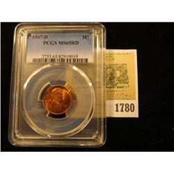 1780 _ 1947 D Lincoln Cent, PCGS slabbed MS65RD.