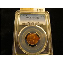 1782 _ 1947 S Lincoln Cent, PCGS slabbed MS65RD.
