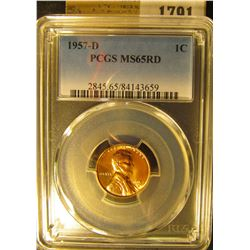 1791 _ 1957 D Lincoln Cent, PCGS slabbed MS65RD.