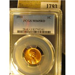 1793 _ 1958 P Lincoln Cent, PCGS slabbed MS65RD.
