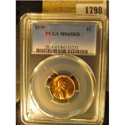 1798 _ 1959 P Lincoln Cent, PCGS slabbed MS65RD.