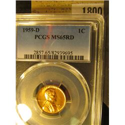 1800 _ 1959 D Lincoln Cent, PCGS slabbed MS65RD.