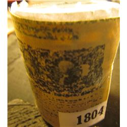 1804 _ Solid-date Roll of 1976 S Proof Kennedy Half Dollars. (20 pcs.) Stored in a plastic tube.