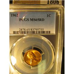 1806 _ 1962 P Lincoln Cent, PCGS slabbed MS65RD.
