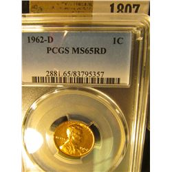 1807 _ 1962 D Lincoln Cent, PCGS slabbed MS65RD.