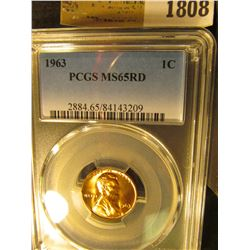 1808 _ 1963 P Lincoln Cent, PCGS slabbed MS65RD.