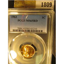 1809 _ 1963 P Lincoln Cent, PCGS slabbed MS65RD.