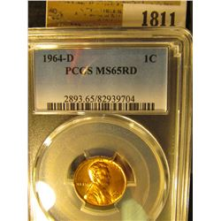 1811 _ 1964 D Lincoln Cent, PCGS slabbed MS65RD.