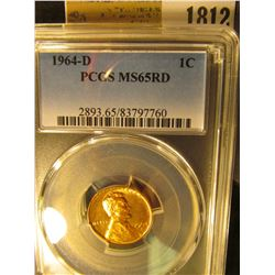 1812 _ 1964 D Lincoln Cent, PCGS slabbed MS65RD.