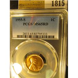 1815 _ 1955 D Lincoln Cent, PCGS slabbed MS65RD.