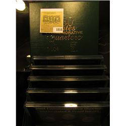 1818 _ 2004 Philadelphia, Denver & San Francisco Uncirculated & Proof Issues cased Quarter Set. (5)