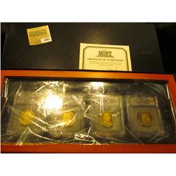 1821 _ First Commemorative Mint Hard Wood Cased Set of slabbed Presidential Dollars. Includes 2007 S