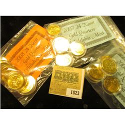 "1823 _ 2006, 2007, & 2008 ""24 Karat Gold (plated) Philadelphia Mint"" State Quarter Sets. All encapsu"