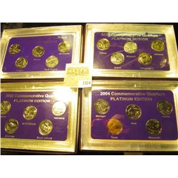 "1824 _ 2003, 2004, 2005, & 2006""Commemorative Quarters Platinum Edition"" Five-piece Statehood Quarte"