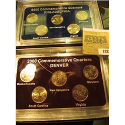 1825 _ 2000 Philadelphia & Denver Mint United States Statehood Quarters in special cases each of whi