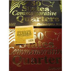 1826 _ 2001 Philadelphia & Denver Mint United States Statehood Quarters in special cases each of whi