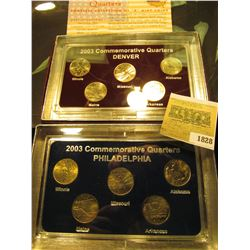 1828 _ 2003 Philadelphia & Denver Mint United States Statehood Quarters in special cases each of whi