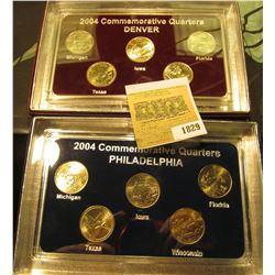 1829 _ 2004 Philadelphia & Denver Mint United States Statehood Quarters in special cases each of whi