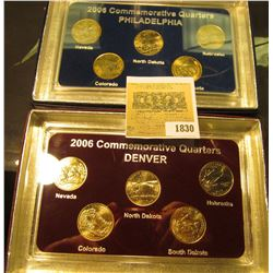 1830 _ 2006 Philadelphia & Denver Mint United States Statehood Quarters in special cases each of whi