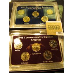 1831 _ 2006 Philadelphia & Denver Mint United States Statehood Quarters in special cases each of whi