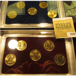 1832 _ 2007 Philadelphia & Denver Mint United States Statehood Quarters in special cases each of whi