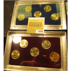 1833 _ 2007 Philadelphia & Denver Mint United States Statehood Quarters in special cases each of whi