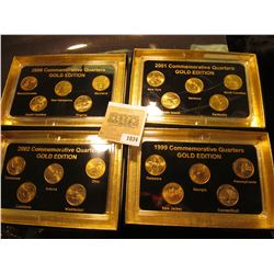"1834 _ 1999, 2000, 2001, & 2002 ""Commemorative Quarters Gold Edition"" Five-piece Statehood Quarter S"