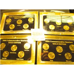 "1835 _ 2003, 2004, 2005, & 2006""Commemorative Quarters Gold Edition"" Five-piece Statehood Quarter Se"