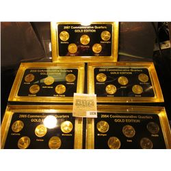 "1836 _ 2004, 2005, 2006, 2007, & 2008""Commemorative Quarters Gold Edition"" Five-piece Statehood Quar"