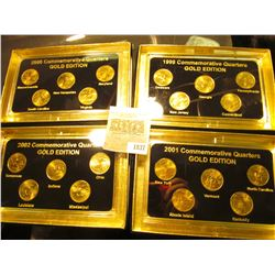 "1837 _ 1999, 2000, 2001, & 2002 ""Commemorative Quarters Gold Edition"" Five-piece Statehood Quarter S"